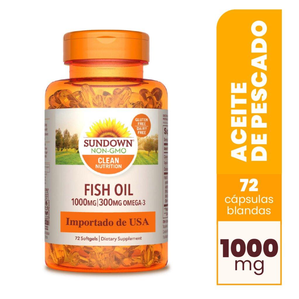 Fish Oil 1000 mg 72 Cápsulas